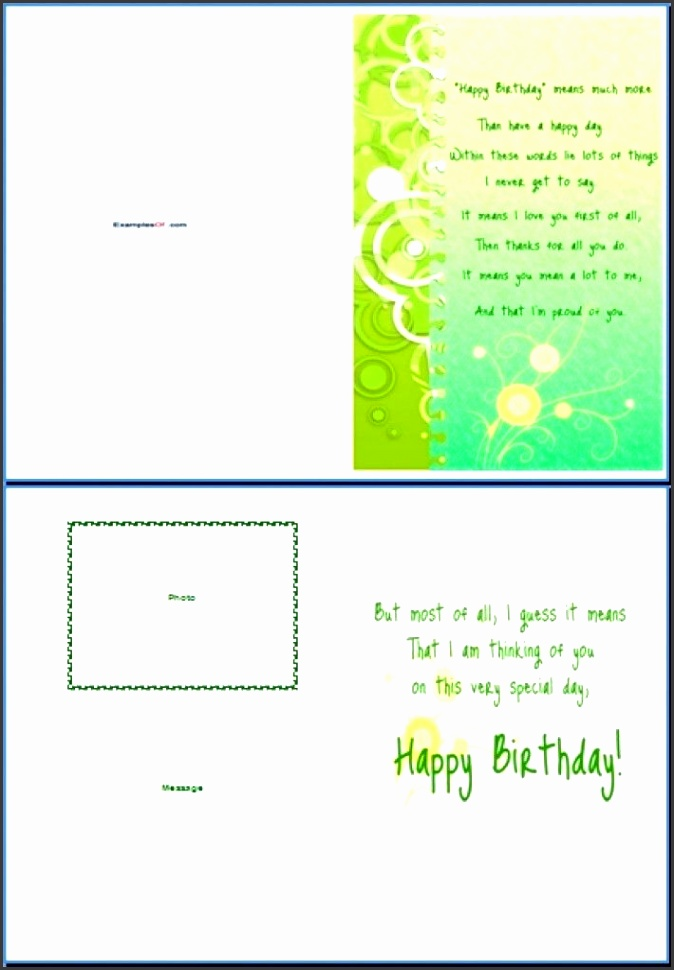 word greeting card template greeting card template word free greeting card template word Best