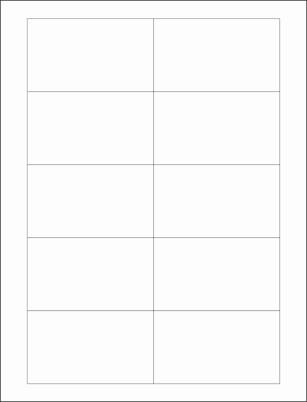 6 blank business card template wordreport template document