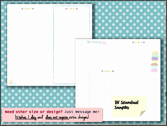 Notebook Template Vector