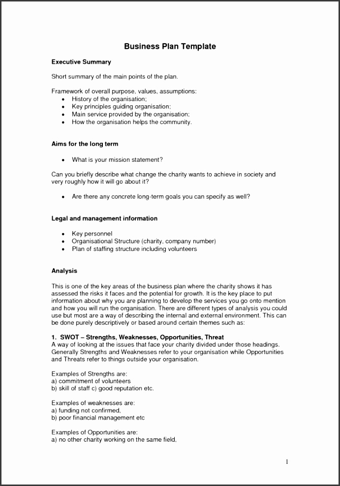 Short Business Plan Sample Doc For Investors Template Word Uk Format Project Executive Summaryklist