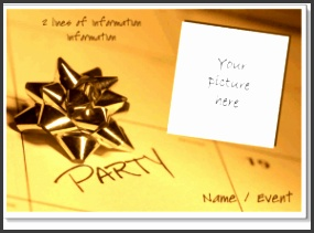 simple calendar date and party invite