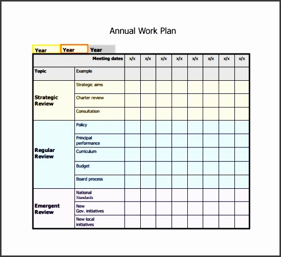 Work Plan Template 12 Free Word Pdf Documents Download