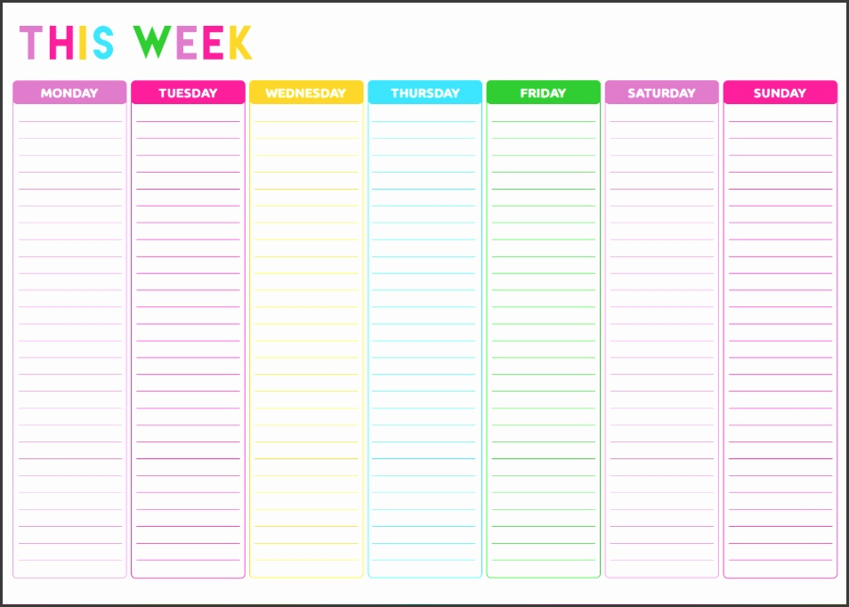 Free Weekly Planner Printable Such a cute to do list template daily