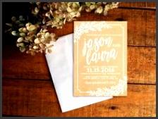Wedding Invitation Kraft Wedding Invitation Set Rustic Wedding Invitation Floral Wedding Invitation