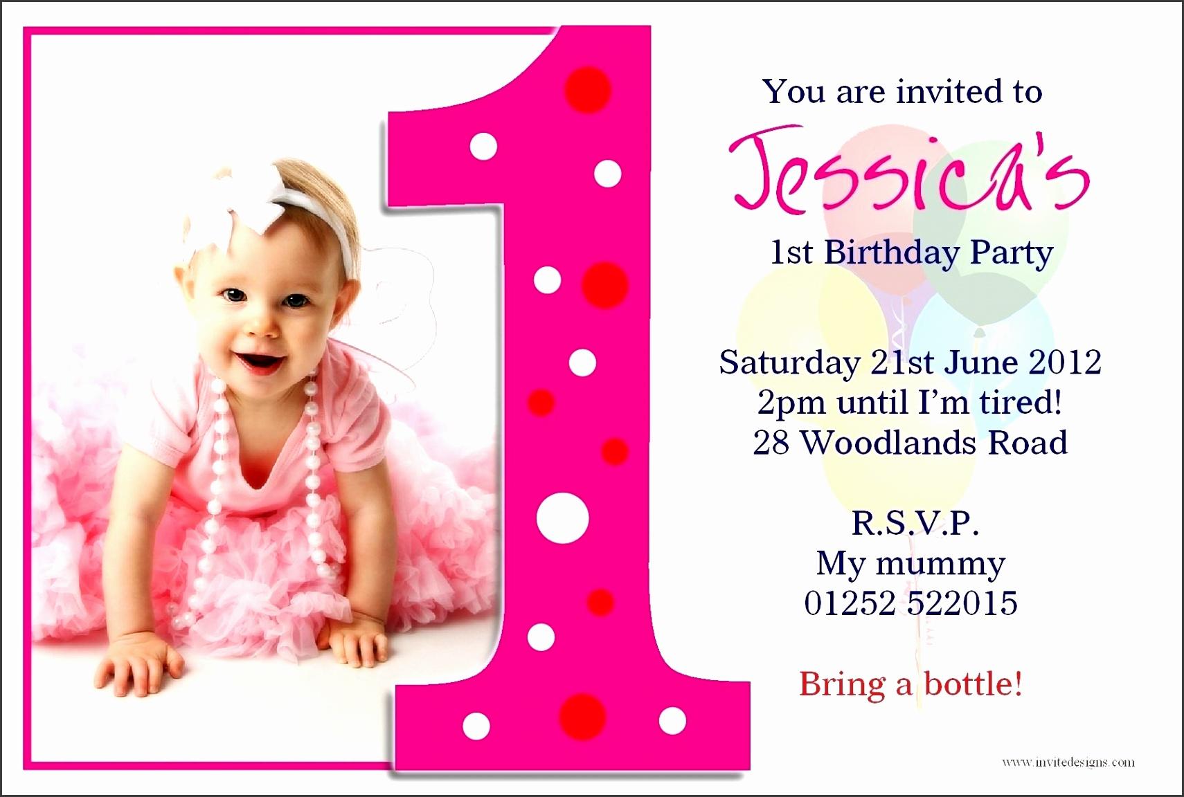 1St Birthday Invitation Card Template Free Download within 1St Birthday Invitation Card Template 5283