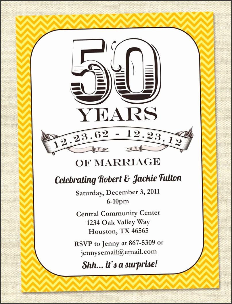 templates free golden wedding anniversary invitation pads
