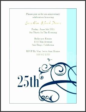 Blue Scrollwork Wedding Anniversary Invitations