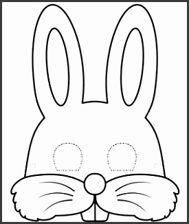 Zomo the Rabbit Printable Bunny Mask Coloring Sheet