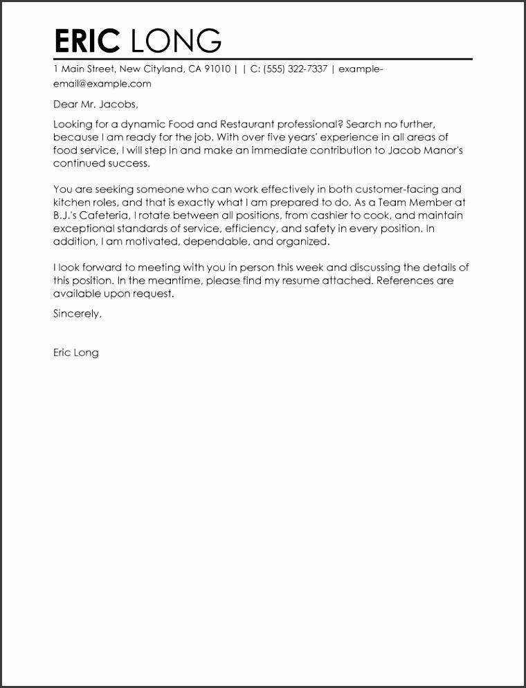 Restaurant Job Seeking Tips Create My Cover Letter