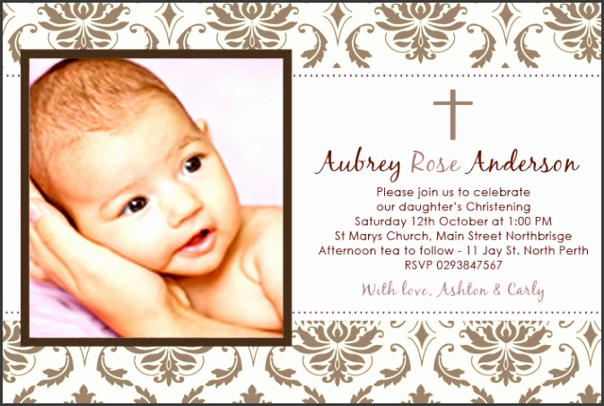 Girl Baptism Invitations to create Good Baptism Invitation Template