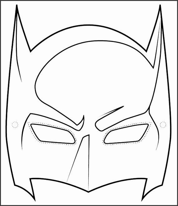 Batman Superhero Mask Template Printable