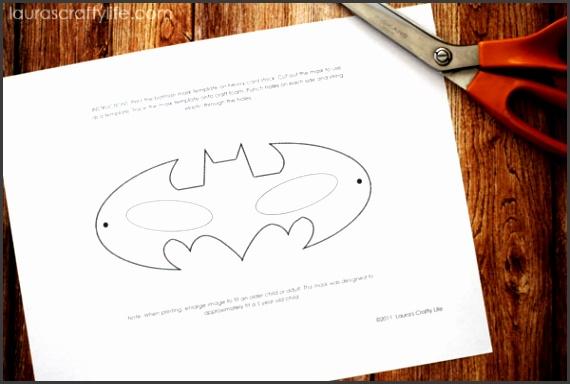 Cut out batman mask template