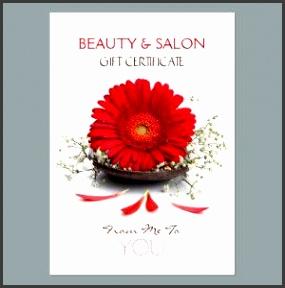 Beauty Salon Gift Certificate Business Card Template