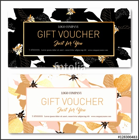 Gift voucher Birthday card Coupon template Background for the invitation shop