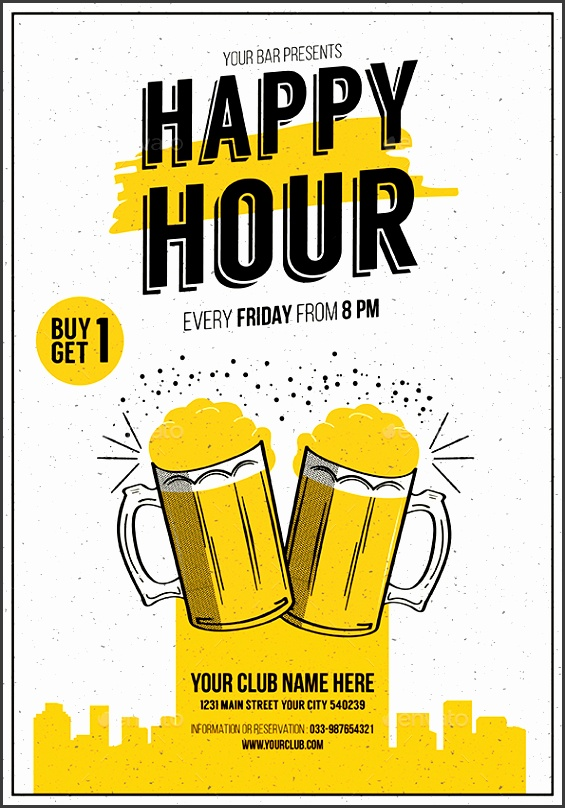 Preview Image Set Happy Hour Beer promotion Flyer 01