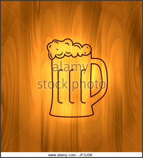 Two Wooden Mugs with Beer on wooden background Stock Image