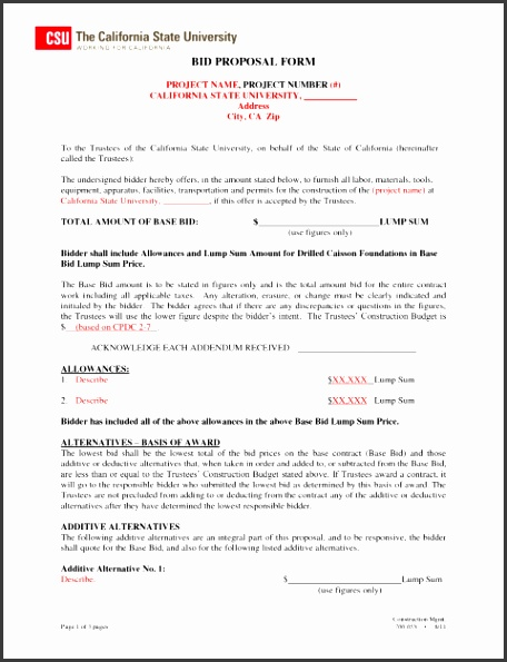 Construction Bid Cover Letter Best Ideas For Proposal Templates Free Contractor Forms Download Template Word