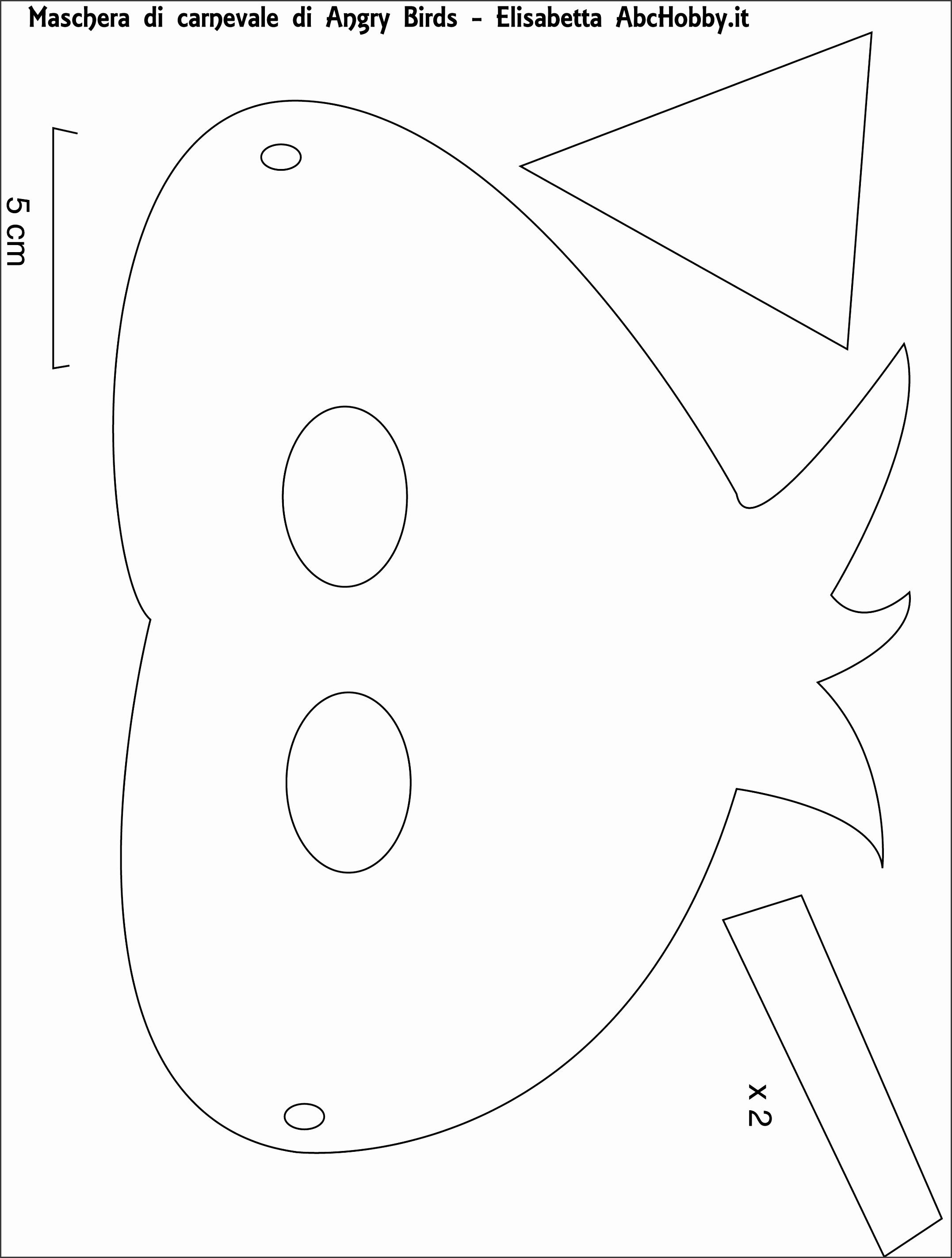 angry bird mask template