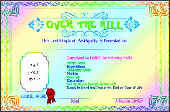 5—7 Format Birthday Gift Certificate Template Download