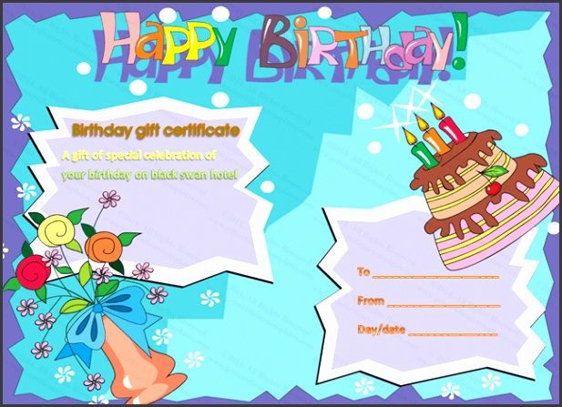 best birthday t certificate template