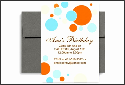 Birthday Party Invitation Template Word Birthday Party Invitation Templates Word Orax
