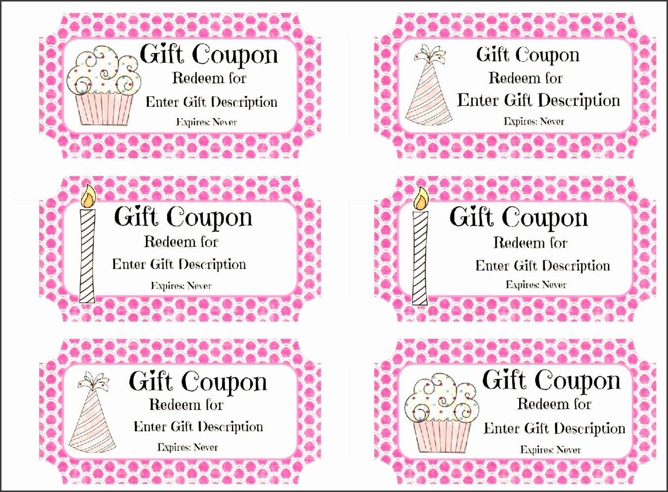 Free Custom Birthday Coupons Customize line &amp Print At Home with Birthday