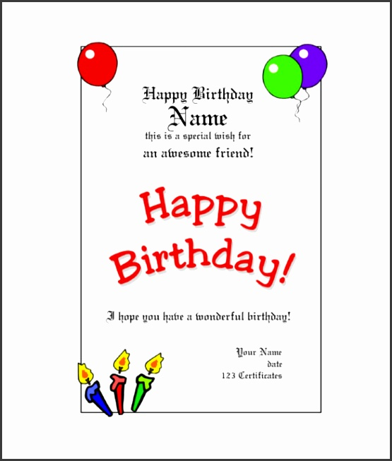 Birthday Gift Certificate Template Word Birthday Gift Certificate Templates 17 Free Word Pdf Psd Printable
