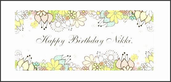 Birthday Charity Donation Voucher Sample Format Template Download