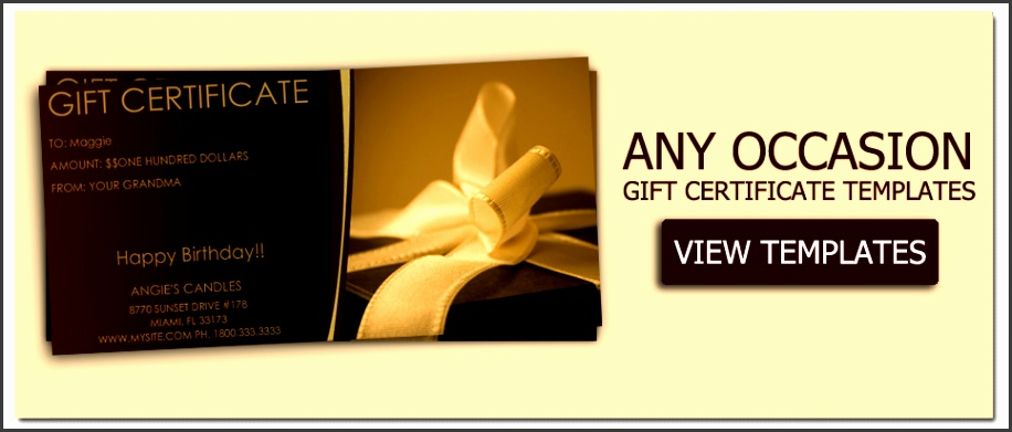 Mother s Day Gift Certificate Templates