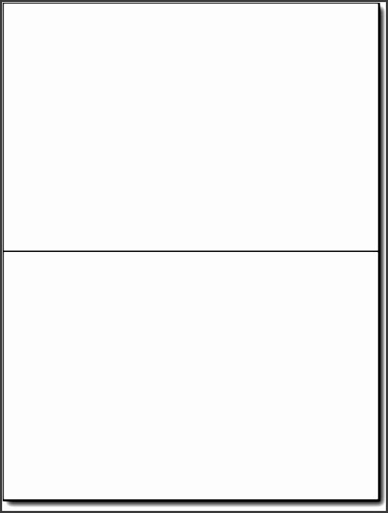 12 Blank Half Fold Card Template