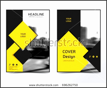 Modern technology brochure design business flyer template Corporate identity leaflet layout Yellow presentation