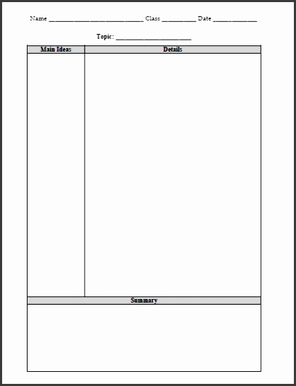 Cornell Notes Template Free Word Pdf Format Download Free Helping Students Take Better Notes Teacher Analysis Note