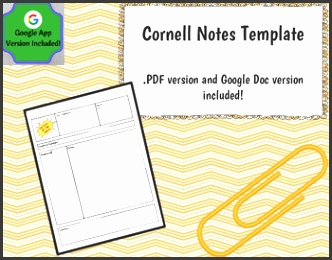 Cornell Notes Template Google Docs Version Included