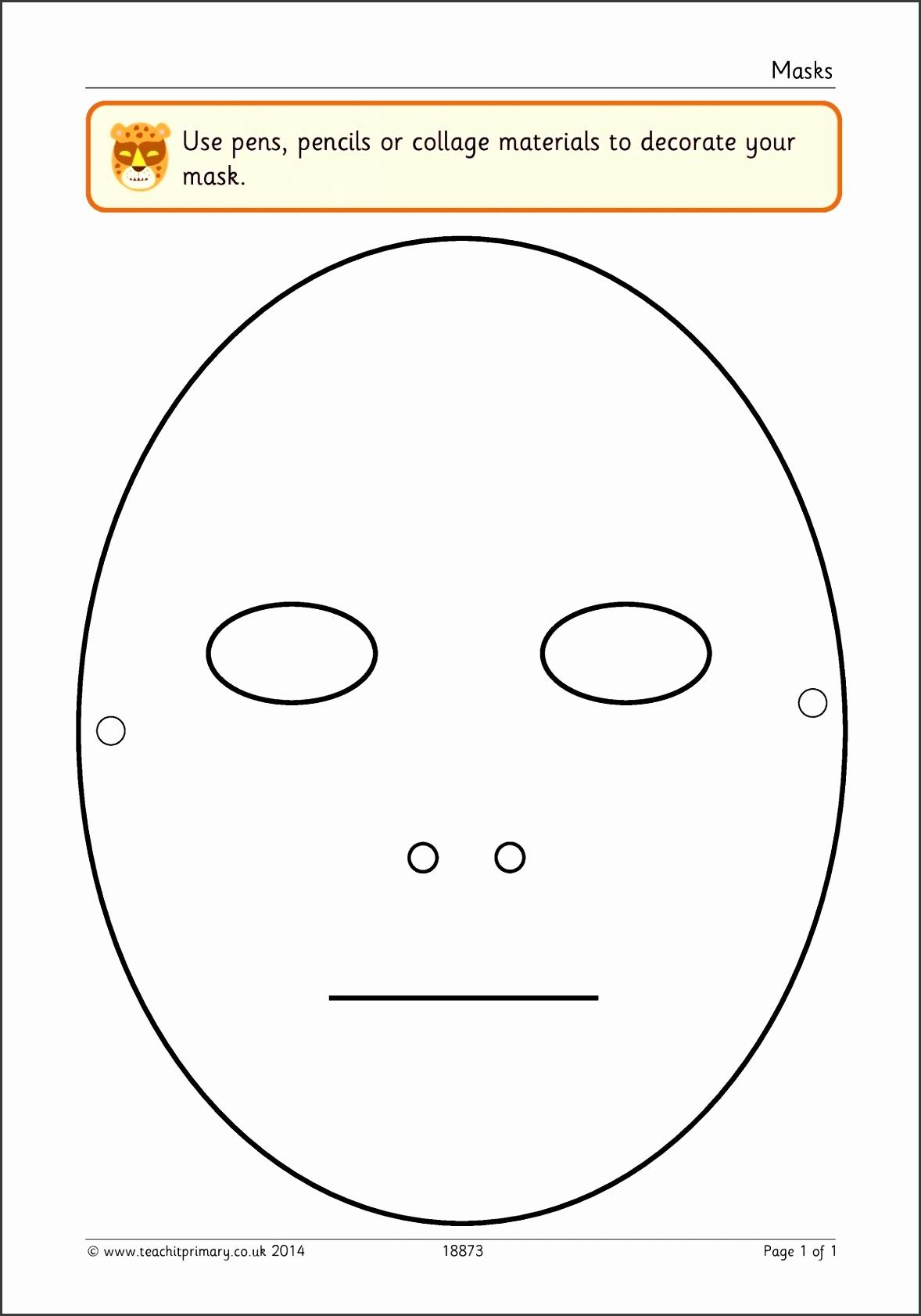 Printable Diagram printable blank face mask template 8 Printable Blank Face