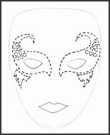 Masquerade mask pattern Use the printable outline for crafts creating stencils scrapbooking and more Free PDF template to and print a…