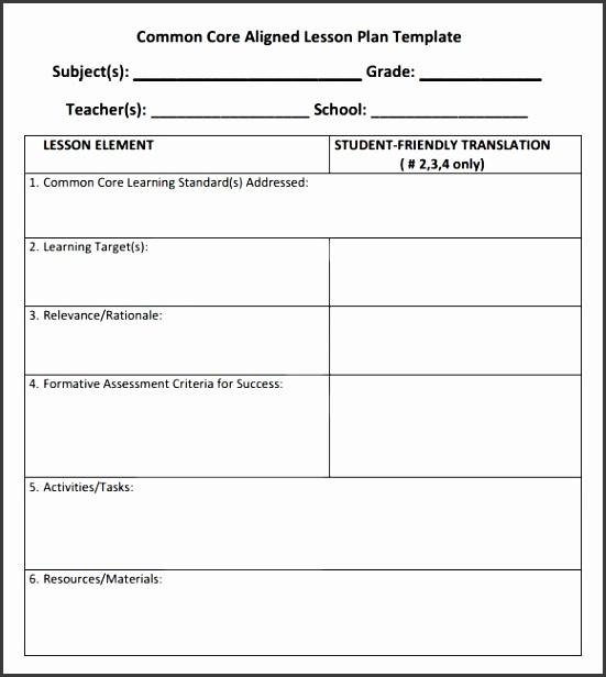 mon core lesson plan template 6 documents in pdf with regard to mon core lesson plan template