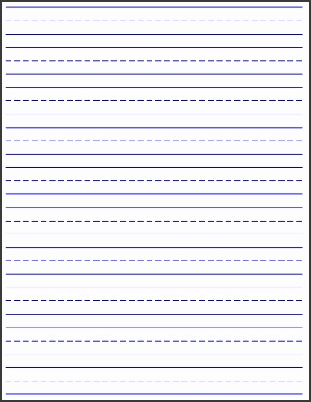 Free Printable Lined Writing Paper Blank Lined Paper Handwriting Practice Worksheet Student Handouts Whether Its Printable Paper If Its Lined