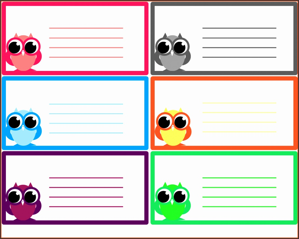 Note Cards Template Owl Notes 1