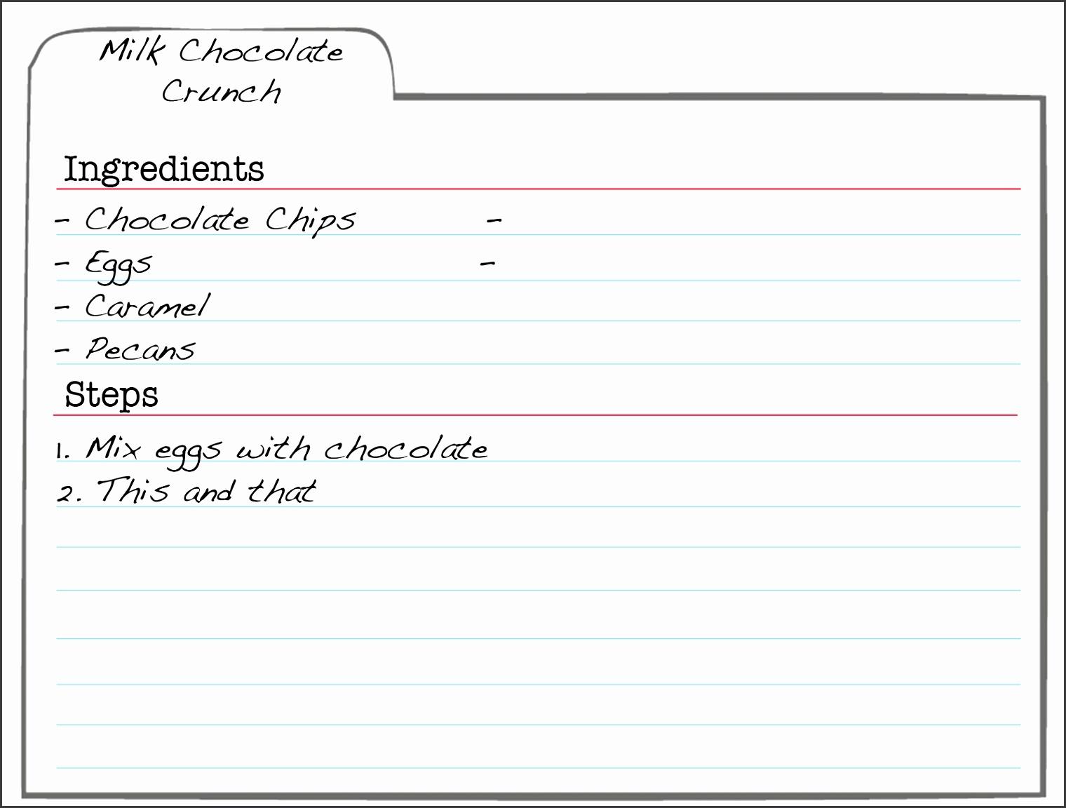 recipe index template 28 images editable recipe cards divider