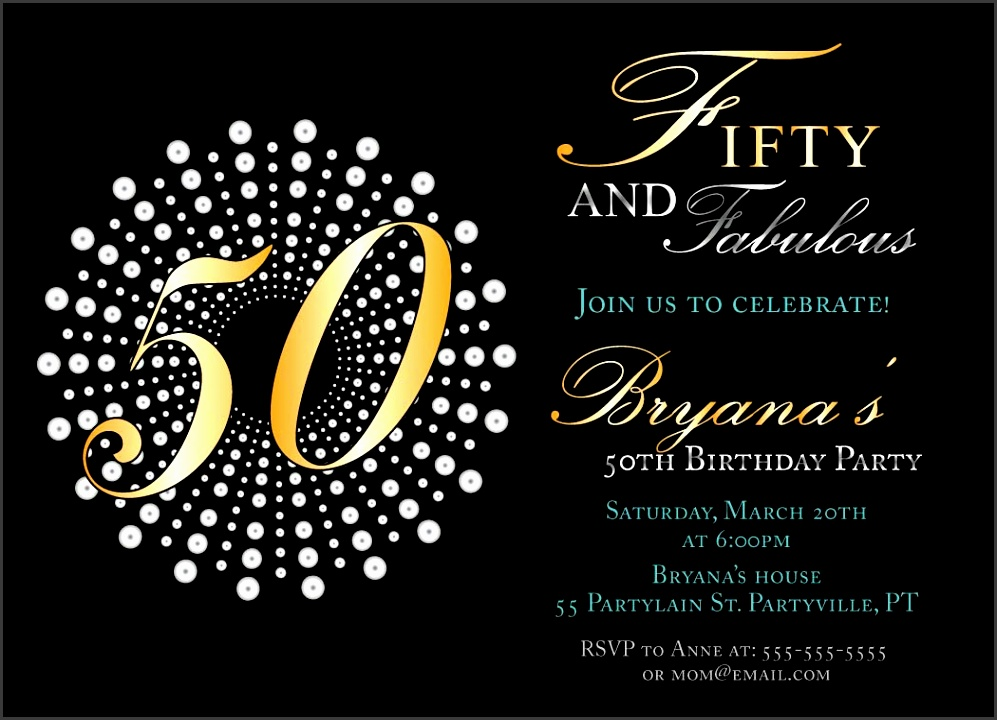 50th Birthday Party Invitation Template To Make New Style Attractive Birthday Invitation Card