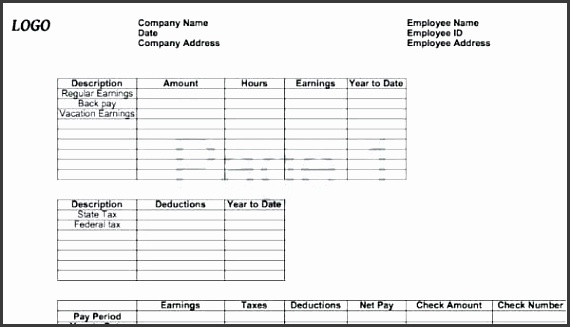 free paystub template excel blank pay stub template for ms excel free canadian pay stub template