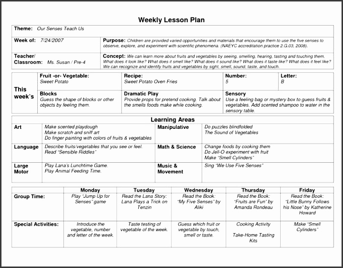 Weekly Lesson Plan For Students Free Pdf Example Download Weekly Lesson Plan Template Free Sample Example Format How Do You Plan Templates And