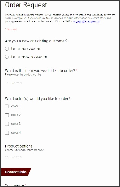 Best Order Form Ideas Order Form Template