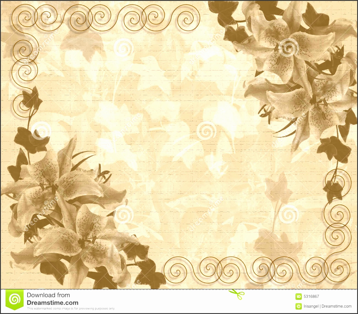 Wedding or Party invitation floral template