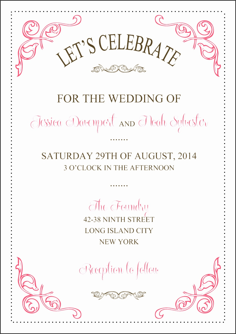 Free New Vintage Swirls Wedding Invitation Template At Wedding Invitation Templates