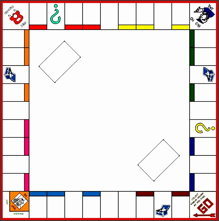 Board Game Template Monopoly board game Pinterest