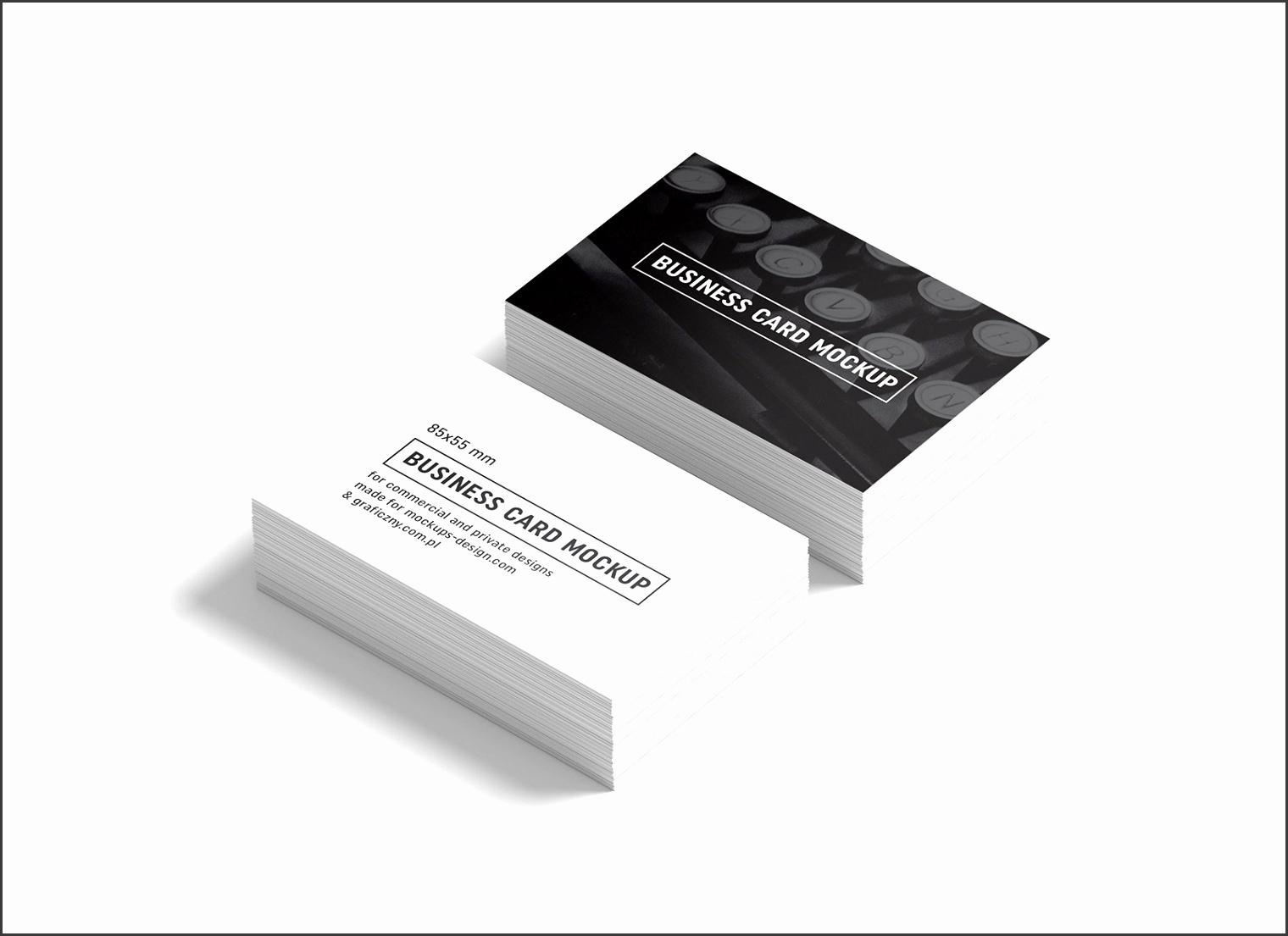 Free Black & White Business Card Mockup PSD