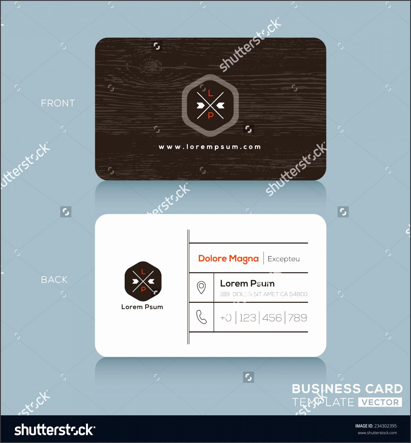 Modern Business Cards Beautiful Templates Simple Modern Business Card Template Ai with