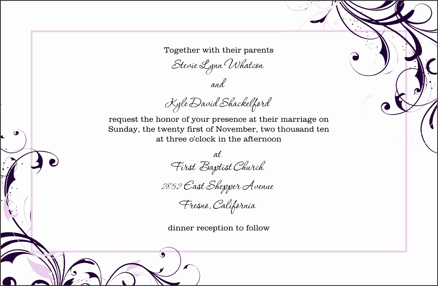 free blank wedding invitation templates for microsoft word