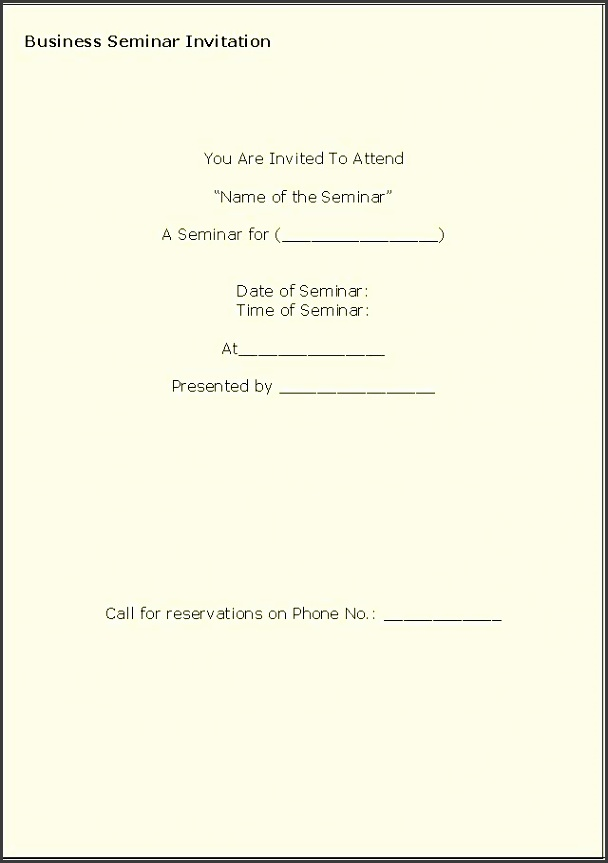 Business Invitation Template Seminar Invitation Template event invitation letter template
